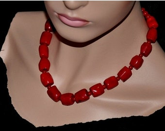 Statement Necklace,  Red Coral Necklace,  Gemstone Necklace,  Chunky Necklace,  Coral Jewelry,  Fashion Jewelry,  Gift For Her