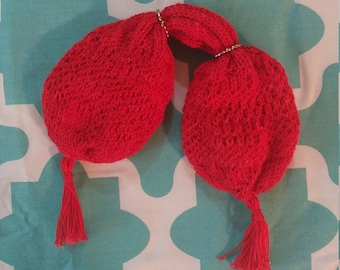 Reserved: Red silk miser's purse