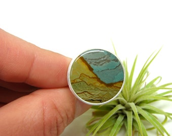 Rocky Butte Picture Jasper Silver Ring