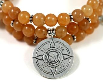 AWAKENING Red Aventurine Healing Gemstone Mandala Bracelet