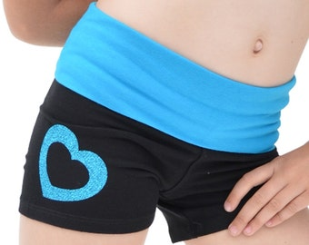 Girl's Heart Dance Foldover Shorts