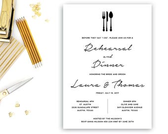 Rehearsal Dinner Invitation Template, Wedding Rehearsal Editable, Rehearsal Invitation, INSTANT DOWNLOAD, Word Template
