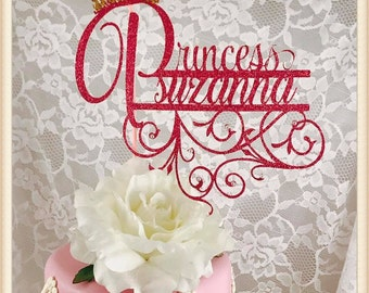 Princess Cake Topper - Princess Party Decorations - Princess Party Decor - Princess Party Centerpiece - Princess Birthday Party Cake Topper