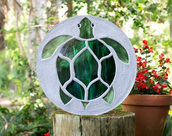"Sea Turtle Stepping Stone, Large 18"" Diameter #866"