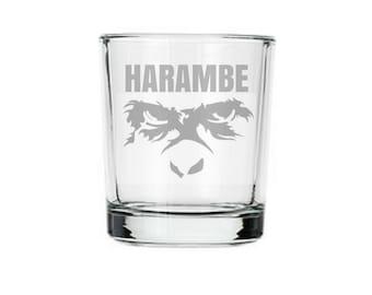 Harambe shot glass, Harambe meme, dicks out for Harambe, Take a shot for harambe, Harambe sticker, internet meme gifts, RIP, Harambe shot