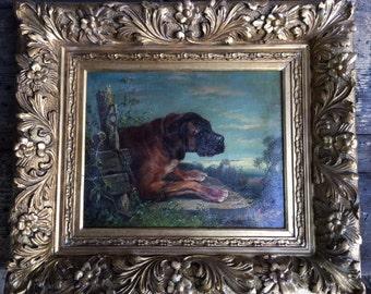 Dog   Clara Von Wille Oil Painting