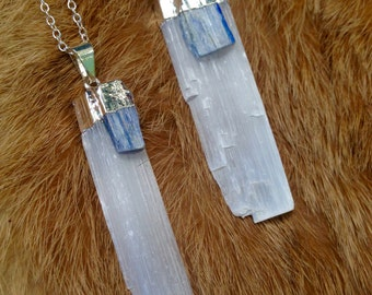 Selenite & Kyanite Necklaces