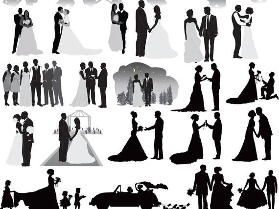 wedding party silhouettes clip art wedding silhouettes clip art rh etsystudio com wedding party clip art free silhouette wedding party clipart