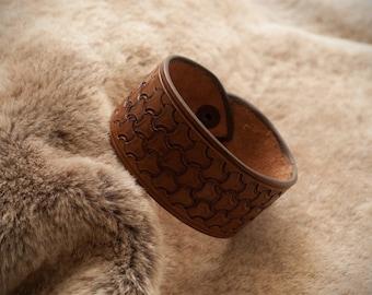 Leather Viking Bracelet, Celtic Bracer, Viking bracer for wedding