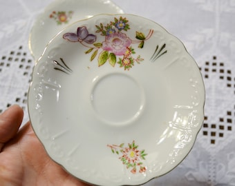 Vintage Chugai China Saucer Set of 6 Floral Design Made in Occupied Japan PanchosPorch