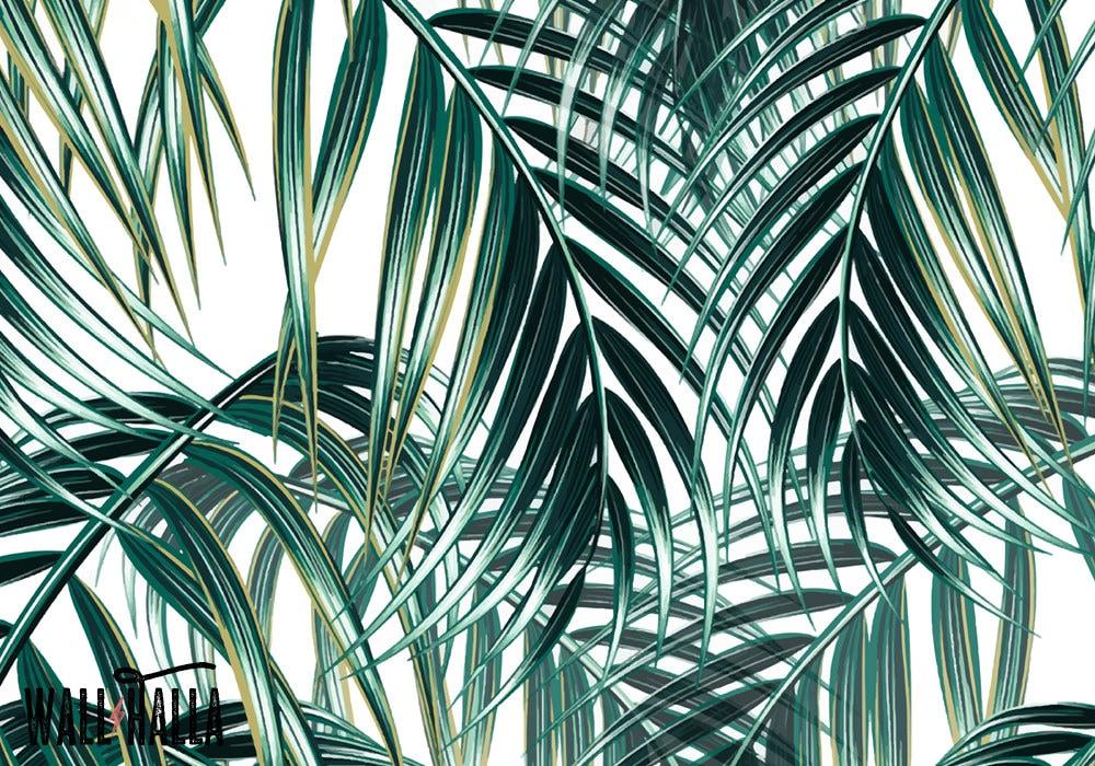 nahtlose selbst klebstoff palm bl tter muster tapete. Black Bedroom Furniture Sets. Home Design Ideas