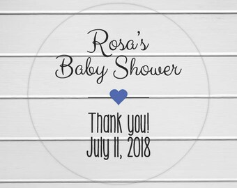 Baby Shower Labels, Clear Transparent Baby Shower Stickers, Baby Shower Favor Stickers (#198-C)