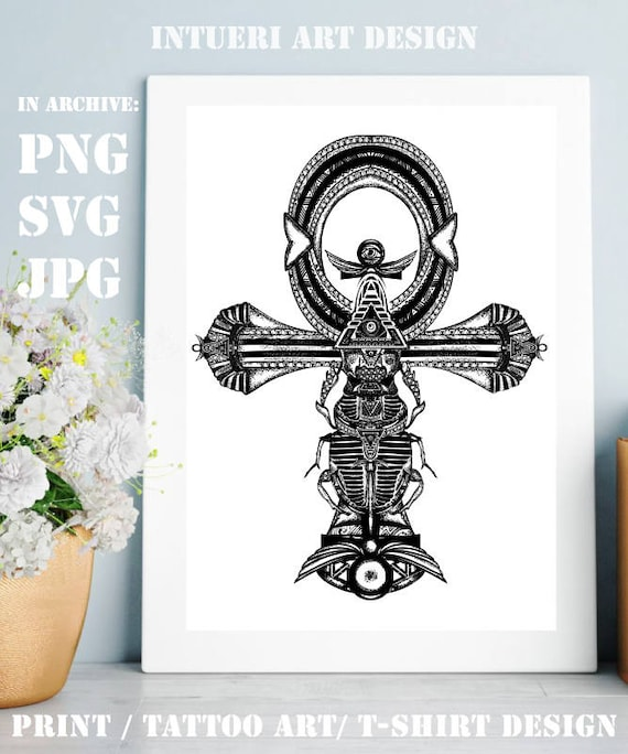 Ankh Svg Ankh Tattoo Ancient Egyptian Cross T Shirt Design Ancient