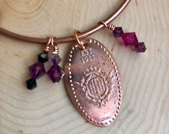 TOWER of TERROR single pressed penny charm. Handmade Swarovski Crystal charms.