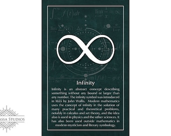 Math Poster, Infinity, Calculus, Printable Poster, Maths, Education