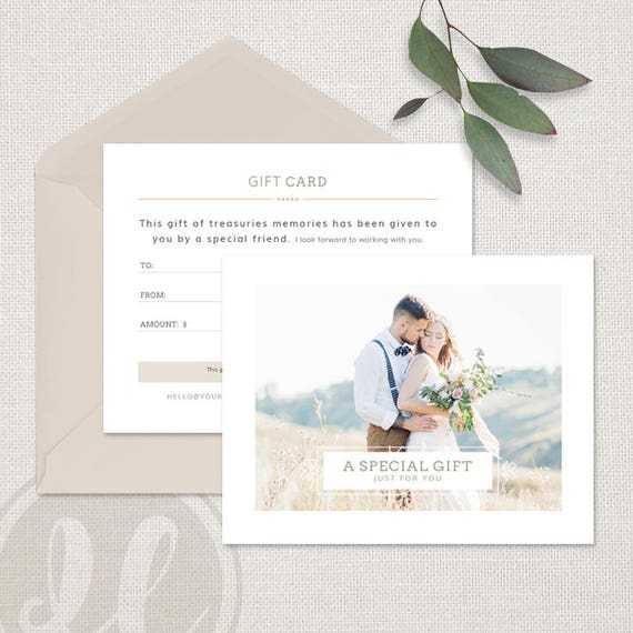 photography gift certificate template photography gift certificate wedding photography gift card template instant download