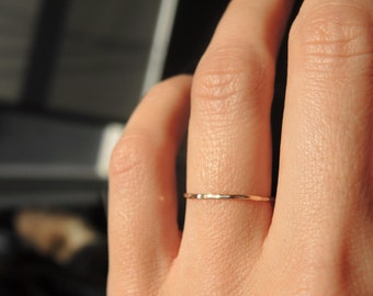 Gold filled dainty teeny tiny stacking ring / Ultra thin stacking ring/ Everyday jewelry