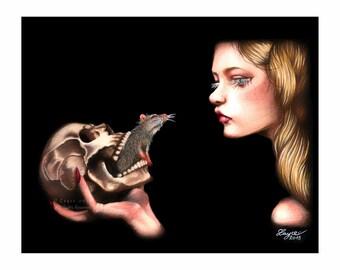 Giclée 'DESTINY' - The Black Death - Giclée Print - By Layce.