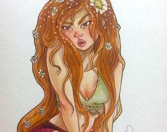 Daisy - Original Inktober Drawing