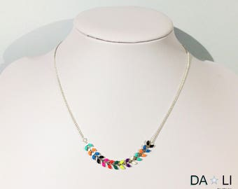 "Necklace ""Ears"", bright colors and neon"