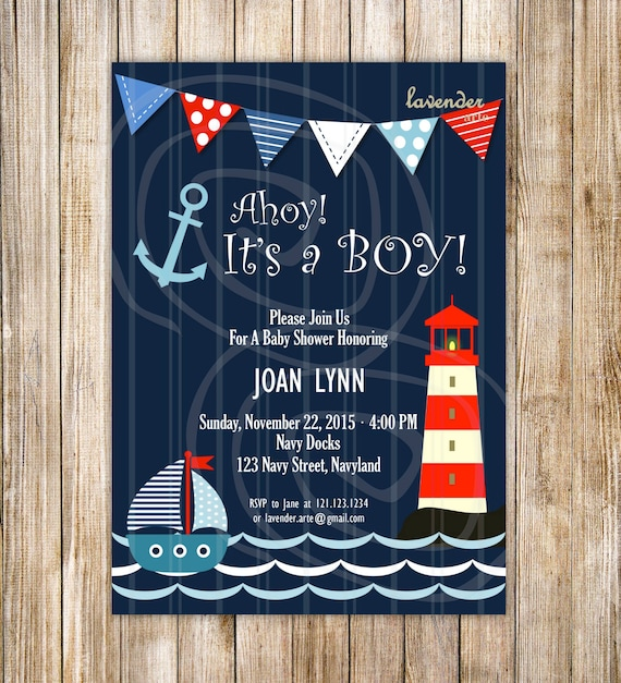invitations s by chevron nautical anchor invite il it fullxfull invitation on its gallery shower ahoy hero a baby boy printable