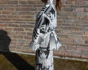 Kimono women inspired by Japanese kimonos - manga designs - handmade