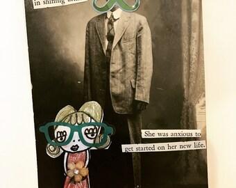 Altered Postcard