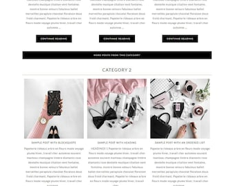 Chloe - Feminine WordPress Theme - Genesis Child Theme - SEO - Responsive - Static Front Page - Slider - Ecommerce - Portfolio - Blog