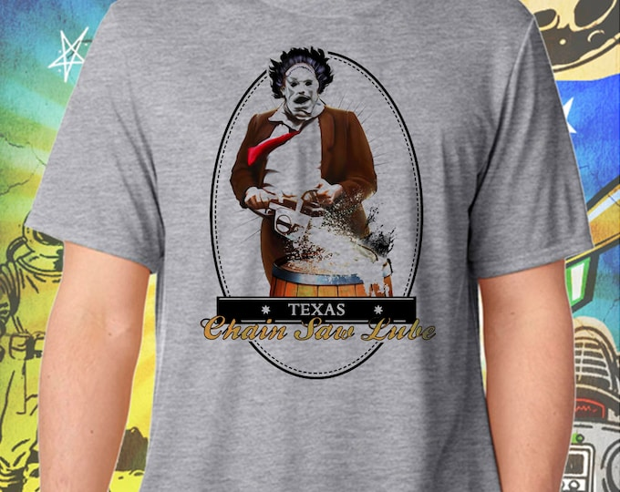Texas Chainsaw Massacre / Leatherface Chain Saw Lube / Men's Gray Performance T-Shirt