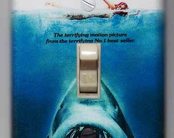 Jaws Movie Poster Light Switch Cover Plate    -     FREE SHIPPING