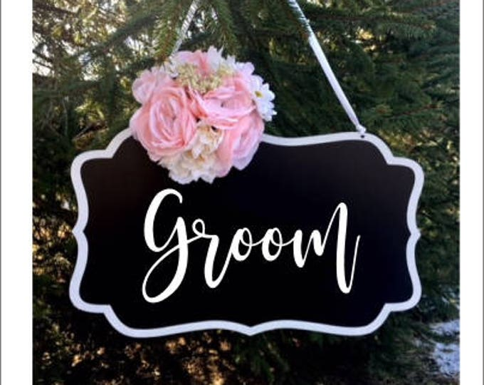 Groom Vinyl Decal for Wedding Rustic Barn Wedding Decor Groom Decal DIY Lettering for sign Decal for Chalkboard Decal only