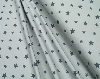 Jersey • Little Darling • stars dark gray on light gray •  0.54yd (0,5m) 002619