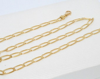 18K Gold / beautiful chain * necklace unisex yellow 18 k gold (750/1000) - knit horse