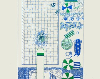 Swimming Pool - green and blue