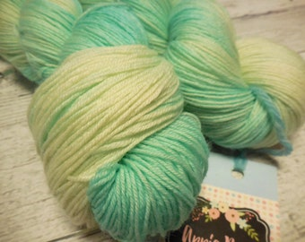 "Anglophile BFL fingering yarn in ""Glass Slipper"" from AnniePurl"
