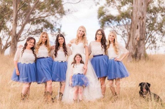 Bridesmaids party - bulk order for tulle skirts / hand dyed tulle / custom color tulle skirt / tulle tutu / bridesmaids dress / wedding