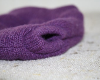 Deep Dusky Lavender Solid Purple Preemie Newborn Wool Diaper Cover With Extra Soaker Layer