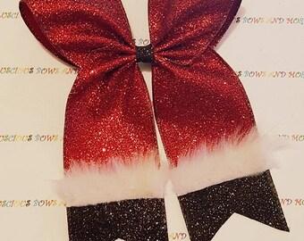 Santa Claus Cheer Bow, Santa Cheer Bow, Santa Claus Hair Bow, Santa Claus Bow, Santa Bow, Christmas Hair Bow, Christmas Bow, Santa, Christma