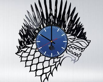 Game of Thrones Winter is Coming Vinyl Record Wall Clock