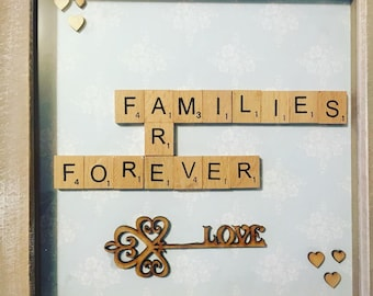 Families Are Forever Scrabble Frame