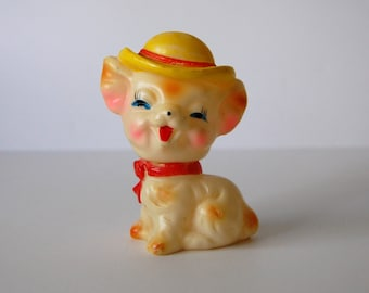 Vintage Squeaky Toy, Chihuahua Rubber Toy