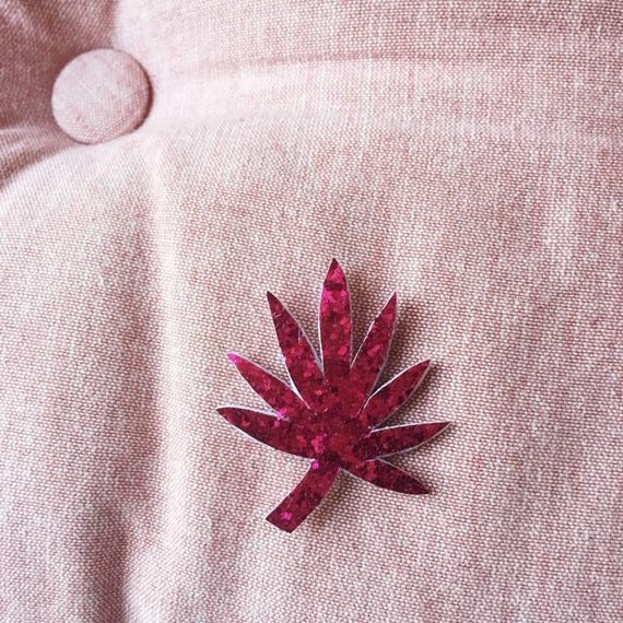 Palma - brooch - Handmade - foliage - Greenery - soft Cactus - the Rochelle