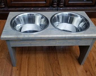 Large Dog Feeder, Personalized Dog Feeder, Raised Pet Feeder, Dog Bowl, Dog Feeder, Dog Feeder with Name, Elevated Pet Feeder, Custom Feeder