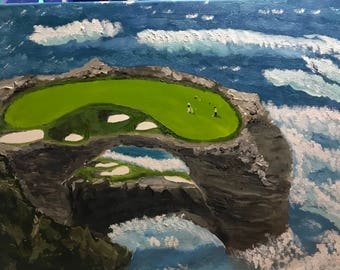 Extreme Golf Hole on the ocean