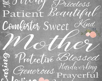 Mother's Day Subway Art Print