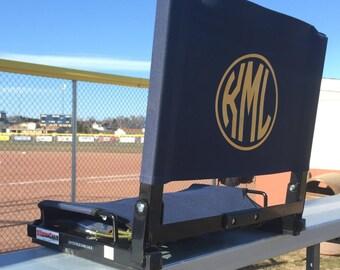PERSONALIZED STADIUM CHAIR - Folding Bleacher Seat & Monogrammed Stadium Seat Stadium Seat Stadium Chair