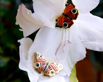 Gold Butterfly Pin