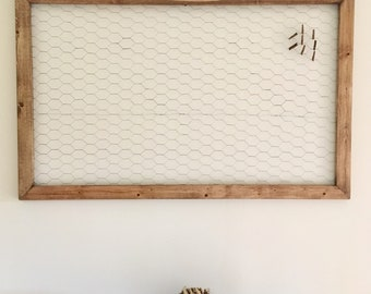 """22"""" x 35"""" Solid Wood Wire Frame, Chicken Wire Frame, Customized Color"""