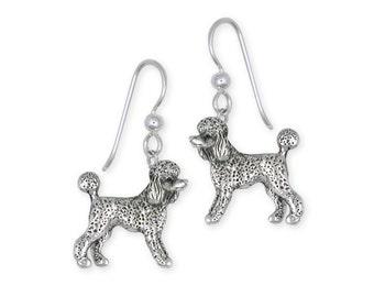 Silver Poodle Earrings Jewelry  PD61-E