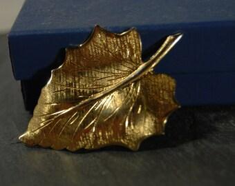Falling Leaf Vintage Pin
